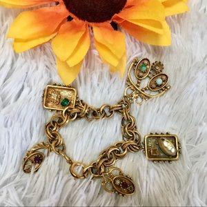 Vintage charm bracelet*missing stones*